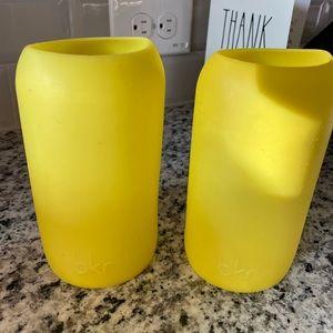 Yellow bkr Sleeves for Glass Bottles
